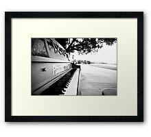Piano On A Beach Framed Print