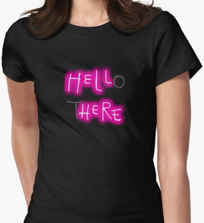 Hello There Womens Fitted T-Shirt