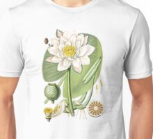 Vintage - Flower - Water Lily Unisex T-Shirt