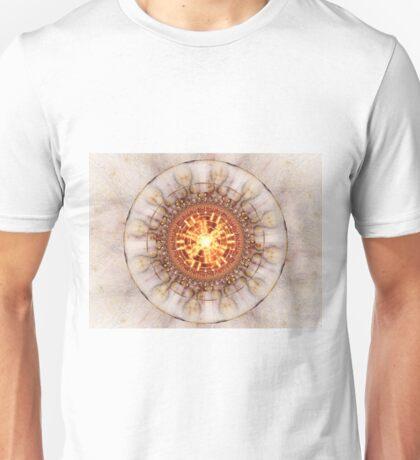 Aztec Medailon - Abstract Fractal Artwork Unisex T-Shirt