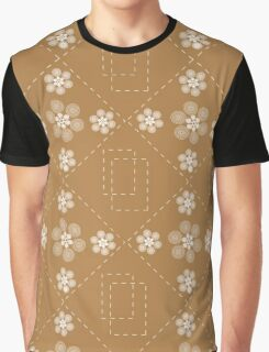 Abstraction with flowers on brown Graphic T-Shirt