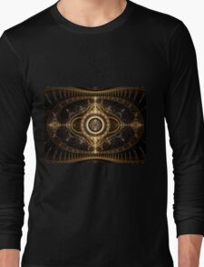 All Seeing Eye - Abstract Fractal Artwork Long Sleeve T-Shirt