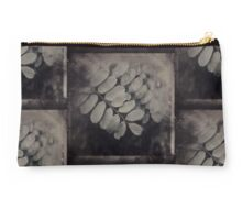 Dark Leaves Under Glass Studio Pouch