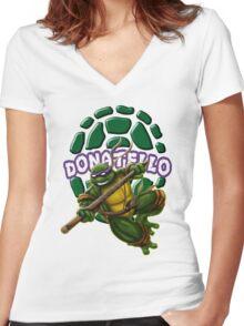 Donatello Women's Fitted V-Neck T-Shirt