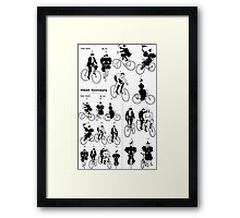 1890s cyclists, adapted from a printer's catalog Framed Print