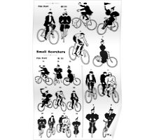 1890s cyclists, adapted from a printer's catalog Poster