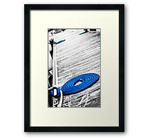 Tilted Dock Framed Print