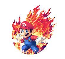 Smash Mario - Pillow by Jp-3