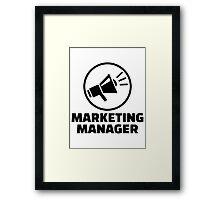 Marketing manager Framed Print