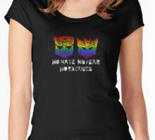 TF - Love is Universal (black text) Women's Fitted Scoop T-Shirt