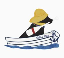 Nautical Preppy Black Lab Aboard The Salty Dog One Piece - Short Sleeve