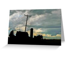 Silhouettes at Sunset Greeting Card