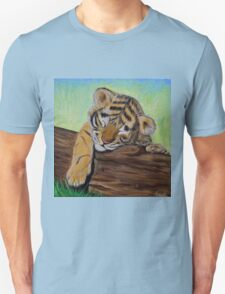 Sleepy Tiger Cub Unisex T-Shirt