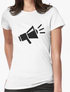 Megaphone Womens Fitted T-Shirt