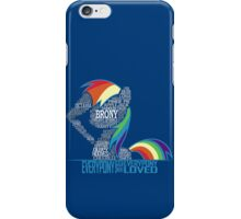 Brony Typography iPhone Case/Skin