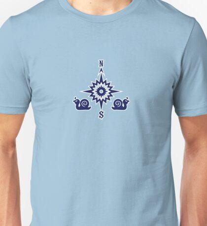 Wind Rose flanked by Snails VRS2 T-Shirt