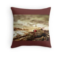 Lady bug Brown Nature Beetle Insect Lucky Charm Throw Pillow