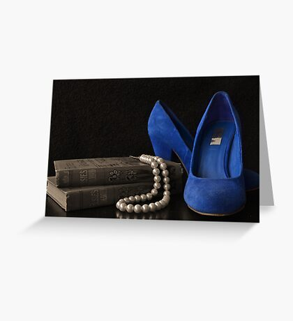 Blue Shoes Still Life Greeting Card