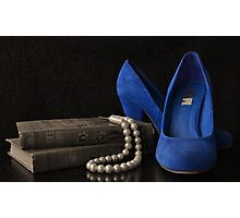 Blue Shoes Still Life Photographic Print