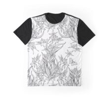 butterflies flying in orchid flowers Graphic T-Shirt