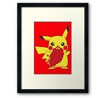 Beardemon - Pikachu Framed Print