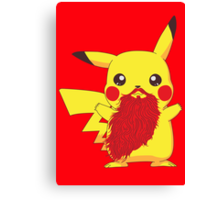 Beardemon - Pikachu Canvas Print