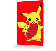 Beardemon - Pikachu Greeting Card