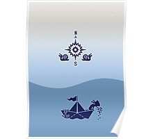 Wind Rose flanked by Snails Poster