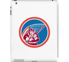 American Patriot Holding Flag Circle  iPad Case/Skin