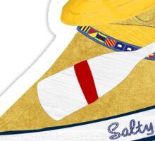 Nautical Preppy Golden Retriever Aboard The Salty Dog Sticker
