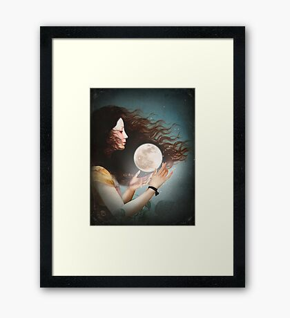 Meet the Moon  Framed Print