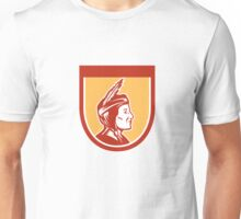 Native American Indian Chief Shield Retro Unisex T-Shirt
