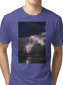 Lightning at Night Tri-blend T-Shirt