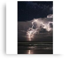 Lightning at Night Canvas Print