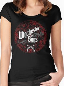 Winchester & Sons (Red Sigil) Women's Fitted Scoop T-Shirt