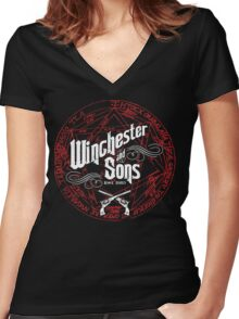 Winchester & Sons (Red Sigil) Women's Fitted V-Neck T-Shirt
