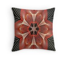 Abstract Red Star Throw Pillow Throw Pillow
