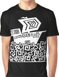 Angular Ship (White) Graphic T-Shirt