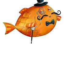 Sir Fish with Mustaches by colonelle
