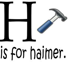 Funny Alphabet: H is for Hammer Photographic Print
