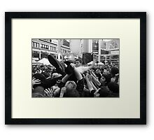 Body Surfing at NXNE Framed Print