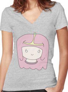 Princess Bubblegum- Adventure time! Women's Fitted V-Neck T-Shirt