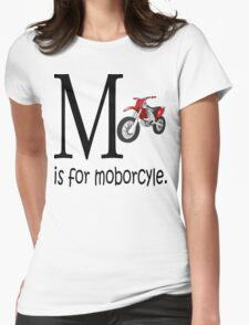 Funny Alphabet: M is for Motorcycle Womens Fitted T-Shirt