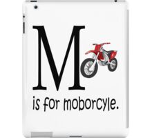 Funny Alphabet: M is for Motorcycle iPad Case/Skin