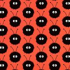 Red Cute Dazzled Bugs Pattern Case by Boriana Giormova