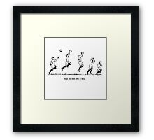 Fangen Catching a high ball vintage 50s Framed Print