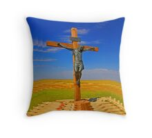 Crucifixion of Jesus Throw Pillow