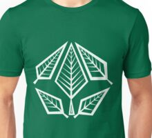 Angular Foliage (White) Unisex T-Shirt