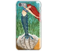 Out Of Her Shell - Mermaid Art iPhone Case/Skin