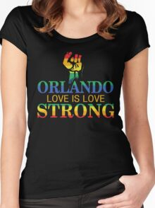 Strong Orlando, Love is Love Orlando T-Shirt Women's Fitted Scoop T-Shirt
